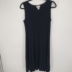 Chico's Travellers Black Dress Stretchy Sleeveless